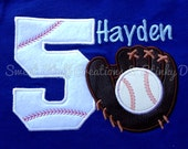 Custom Personalized Baseball Birthday Shirt - You choose size and color