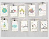 Nature Themed Counting Number Cards, Nursery Art, Nursery Wall Art, Kid's Art, Kid's Decor, Gender Neutral Nursery