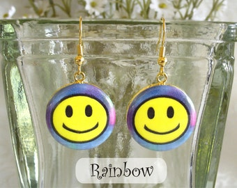 Smiley Face Earrings - Available in 6 Colors
