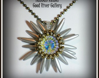 NEWLY UPDATED Beading Pattern Second Star to the Right Pendant or Ornament Peyote Stitch Seed Bead Tutorial Instructions by Hannah Rosner