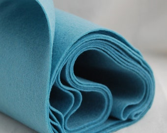 100% Pure Wool Felt Fabric - 1mm Thick - Made in Western Europe - Dusty Light Blue