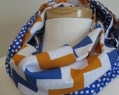 Collegiate Infinity Scarf – Orange and Blue - Sports Fan