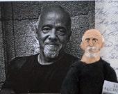Paulo Coelho Author Writer Doll Brazilian Art Character