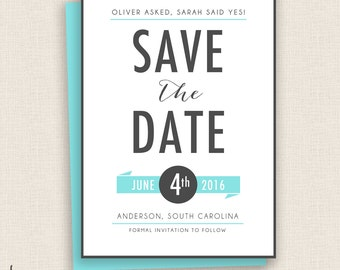 MOD & TEAL - DIY Printable Wedding - Save the Date