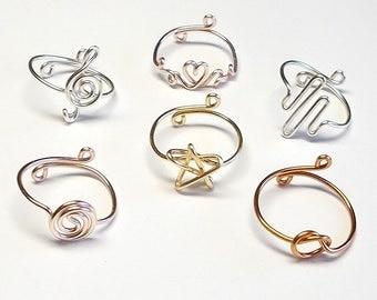 Rings . Knot Ring . Treble Clef Ring . Princess Heart Ring . Star Ring . Heart Beat Ring . Circle Coil Ring . Adjustable Ring