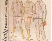 Simplicity 4006 Vintage Misses Pajama Pattern Size 16