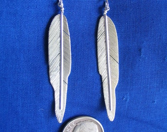 Eagle primary wing feather earrings
