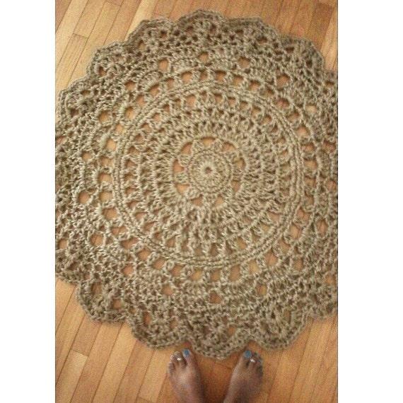 Pineapple Kitchen Rugs: Jute Crochet Doily Rug Pineapple Pattern 45 By