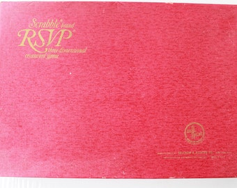 Vintage Scrabble RSVP Three Dimensional Crossword Game - Manufactured by Selchow and Righter for the Production and Marketing Company- 1966