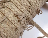 Beige Fringe, Beige Looped Fringe Upholstery Sewing Trim 1 1/2 inches wide x 3 yards, Cafe Curtain Heading