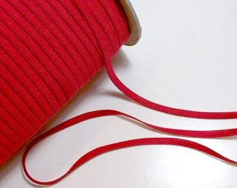 Red Elastic, China Red Skinny Elastic Sewing Trim 1/4 inch wide x 10 yards