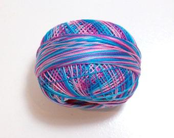 Lizbeth Size 20 Cotton Crochet Tatting Thread Island Breeze Color number 130, Blue Thread