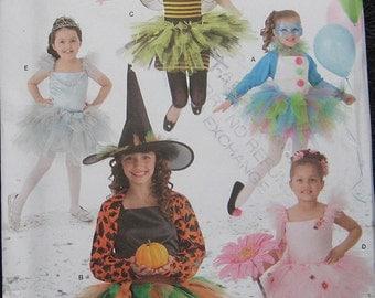 Simplicity Halloween Girls Costume Pattern Tutu Witch
