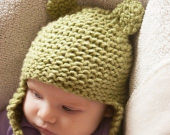 Frog Hat for 0-3 Months
