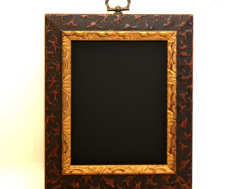 Small Chalkboard Frame Gold and Brown Photo Prop Wedding Hanging Chalkboard