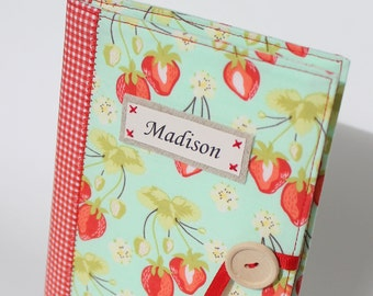 summer strawberry personalized photo album brag book mothers day