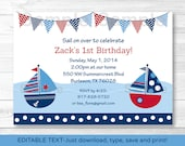 Cute Sailboat Birthday In...