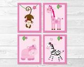 Pink Jungle Animal Nurser...