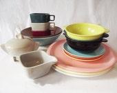 Vintage Melmac Dishes - Choice - Plates Bowls Cups Creamer Sugar Saucer - Boontown Ware - Imperial - Arrowhead - Mallo Ware - Fostoria