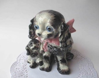Vintage Ceramic Puppy Planter - So Kitsch and Sweet