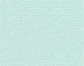 50% OFF Fun And Games Maze Aqua -1/2 Yard