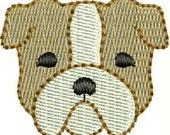 INSTANT DOWNLOAD Mini bulldog embroidery designs