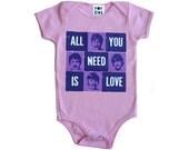 Beatles pink onesie (short or long sleeve)
