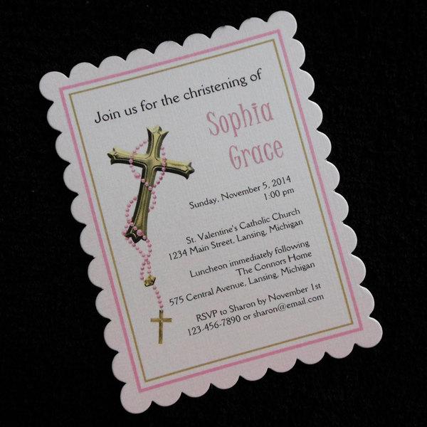 personalized baptism invitation free baptism chic custom baptism