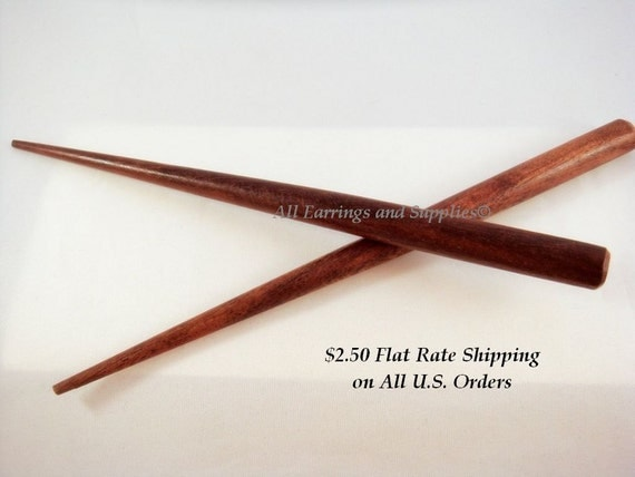 5 Wood Hair Stick 6 Inches - 5 pc - 2185