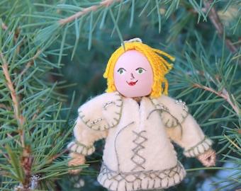 Felt Art Doll - Hanging Ornament Pietro The Dwarf On A Quest