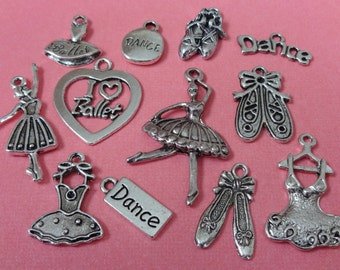 12 Ballet Theme Charms ITEM:AG20