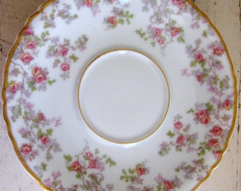 Theodore Haviland & Co Limoges France Trellis Rose Saucer Plate 5 Inches