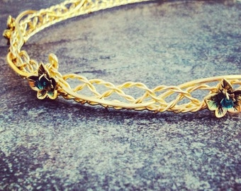 Eowyn Celtic Weave Lady of Rohan Circlet in Custom Colors