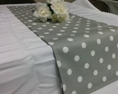 POLKA DOT RUNNERS Choose colors, Table Runner Polka Dot, White on Grey, Black, Red, Navy, Pale Yellow, Lilac, Rose Pink,