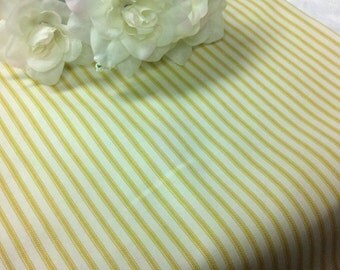 """SAMPLE SALE RUNNER 11x41"""" Yellow and White Table Runner Ticking Fabric 100% cotton vintage pillowcase Wedding Bridal Home Decor"""