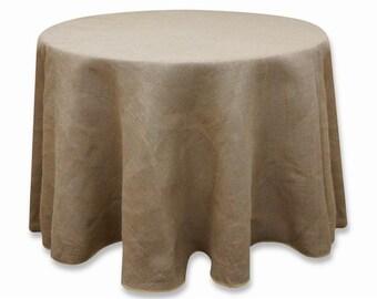 BURLAP ALL SHAPES   Custom, Tablecloths Round, 48, 54, 60, 90