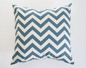 Nautical Pillow Cover Decorative Pillows Chevron Throw Pillows Denim Blue Pillow Cushion Cover 8 Sizes Available