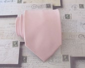 Necktie Dusty Pink Inspired by David's Bridal Ballet Mens Silk Tie With Matching Pocket Square Option
