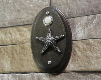 STARFISH Wired Doorbell Seastar nautical Beach House Cottage
