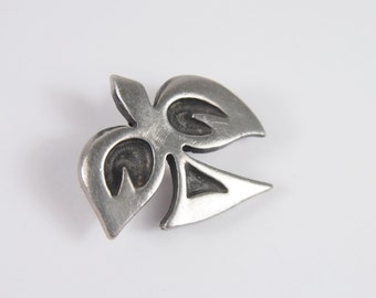 Dove Peace Tennesmed Sweden Scandinavian Mid Century Brooch Vintage 60s 70s Jewelry