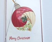 Handmade Christmas Card - Ornament - Iris Folding Merry Christmas