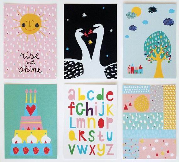 Set of six postcards #2