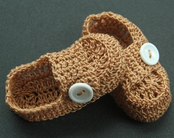 Crocheted Baby Boy Booties Crib Shoes Knit Baby Boy Booties Baptism Crochet Infant Loafers Reborn Boy Booties Doll Shoes Christening