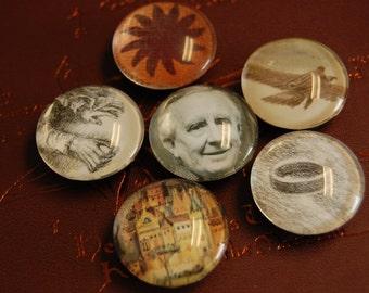 Tolkien Glass Pebble Magnet Set