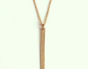 Wanderlust Thin Bar Necklace