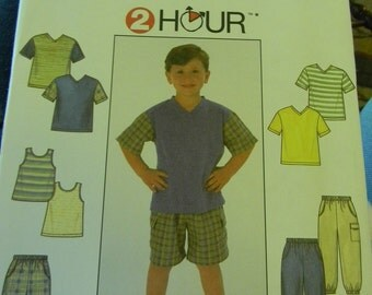 Simplicity Child's Pants, Shorts, Top and Tank Pattern N 7990, Uncut, Multisized