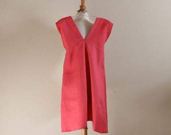 "bust 40"" room pink linen sparrow tunic ready to wear"