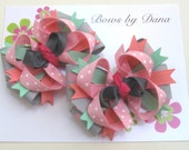 Set of 2 M2MG Wild For Horses Toddler Hair Bows
