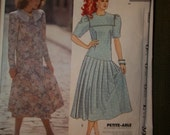 Vintage Laura Ashley Dropped Waist Dress Pattern McCalls 3925