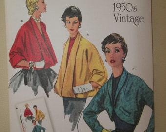 Retro 1950s Swing Jacket Pattern Bolero Pattern Simplicity 1319 Uncut
